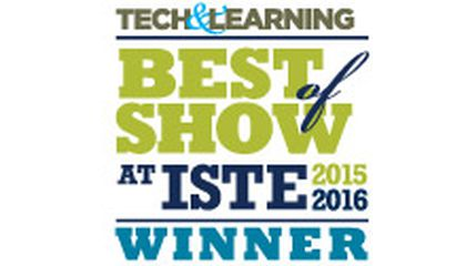 Image: Tech & Learning Awards MackinVIA Best of Show at ISTE 2016