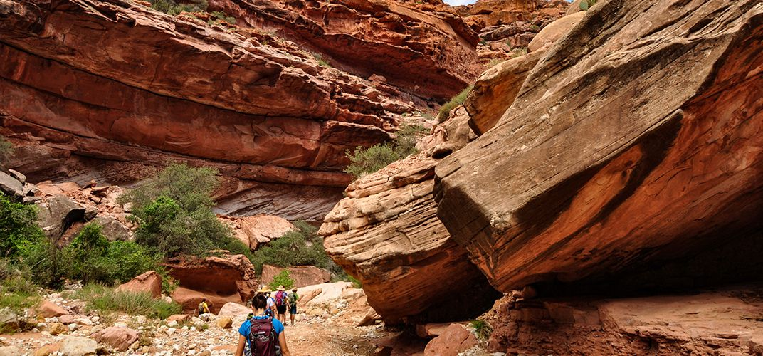 Hiking in the Havasupai area of the Grand Canyon