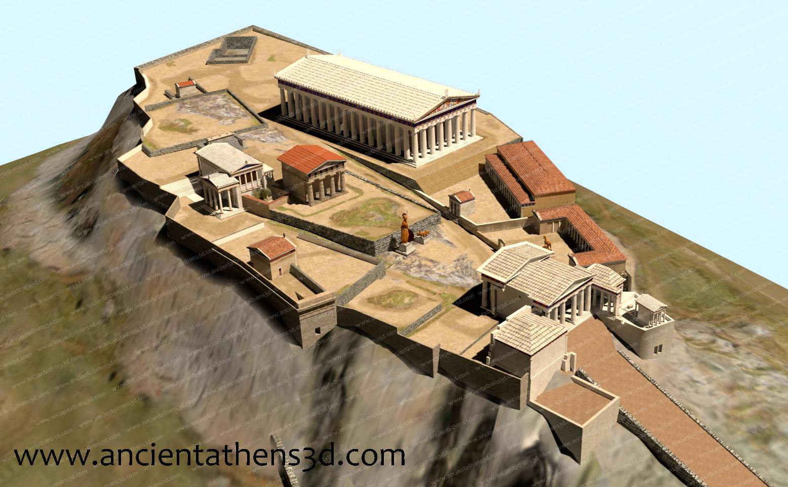 These 3-D Models Offer a Digital Glimpse Into 3,000 Years of Athens' History