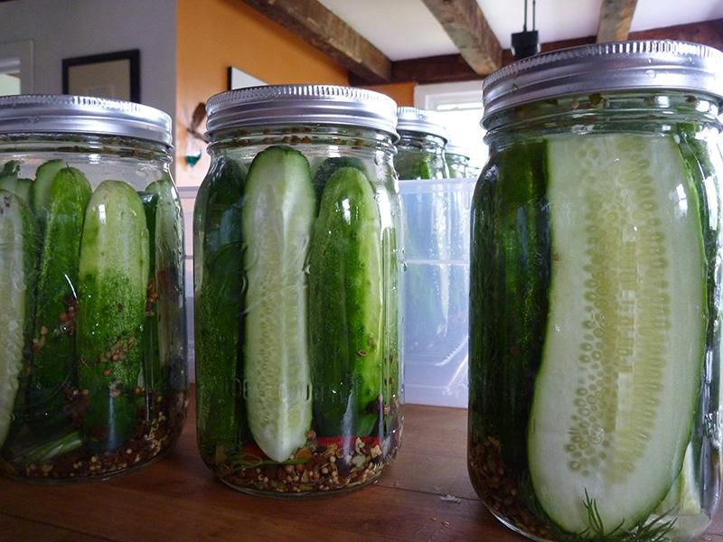 Pickles in jars