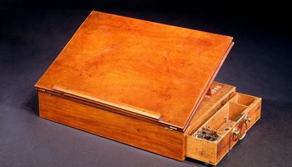 History Was Writ Large on This Desk Belonging to Thomas Jefferson