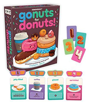 Preview thumbnail for 'Gamewright Go Nuts for Donuts Card Game