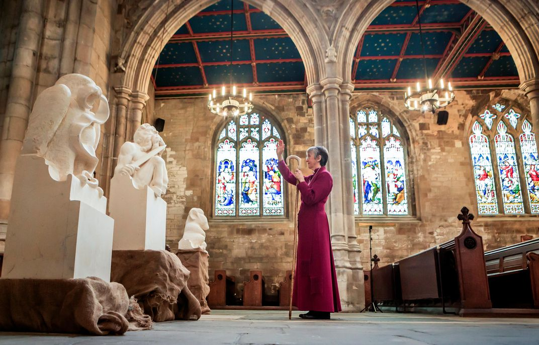Bishop blesses Narnia statues