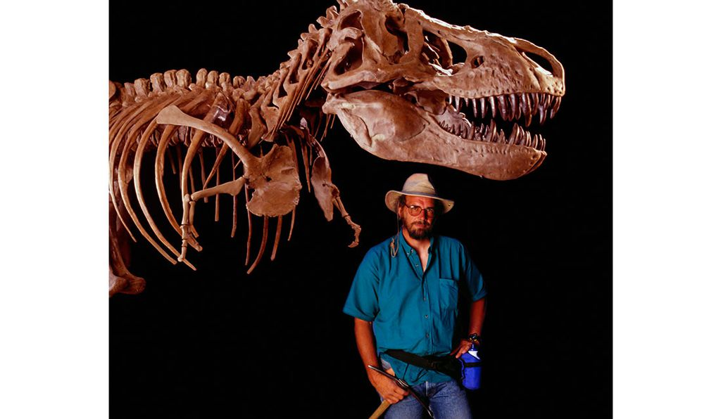 Paleontologist Jack Horner served as scientific adviser on all of the <emJurassic Park</em> films and is believed to have inspired the character of Dr. Alan Grant. Here, Horner in 1998.