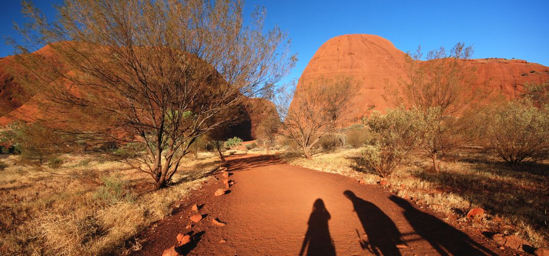 Walking at Uluru-Kata Tjuta National Park