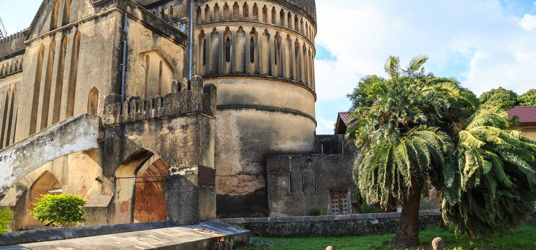 Cathedral and slave memorial in Zanzibar's Stone Town