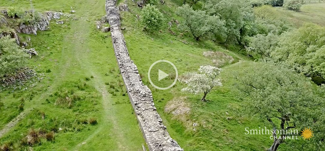 Caption: The Roman Wall That Split Britain Into Two Parts