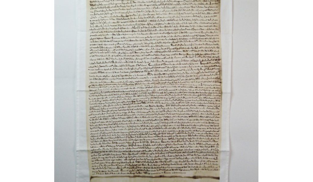 A very British tchotchke: the Magna Carta tea towel.