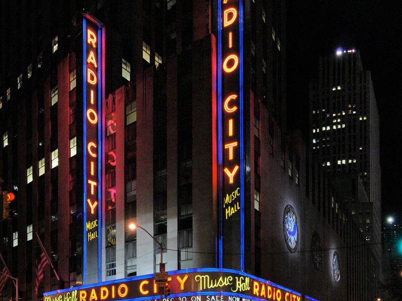 Radio City Music Hall at Rockefeller Center in New York City