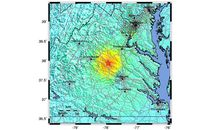 East Coast earthquake epicenter map