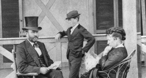 General grant in love and war history smithsonian president ulysses s grant with first lady julia dent grant and son jesse in 1872 publicscrutiny Images