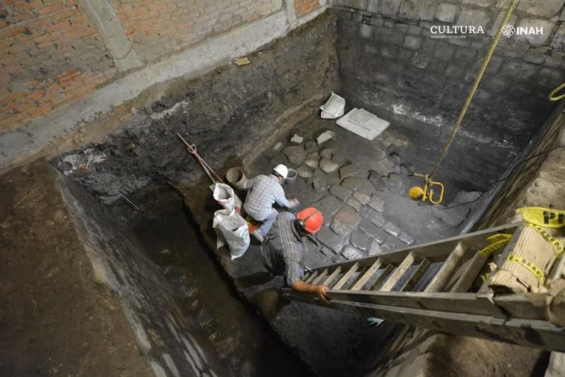 Archaeologists excavating site of Aztec palace and conquistador home