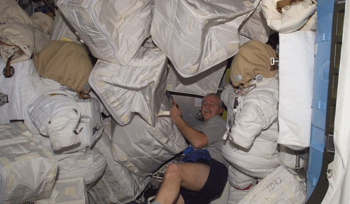 Trash Day on the Space Station