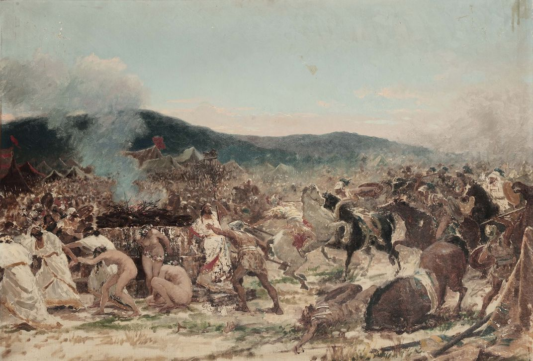 A romanticized depiction of the Battle of Himera