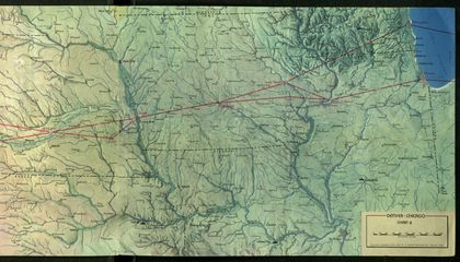 Mapping the Transcontinental Route for United Air Lines