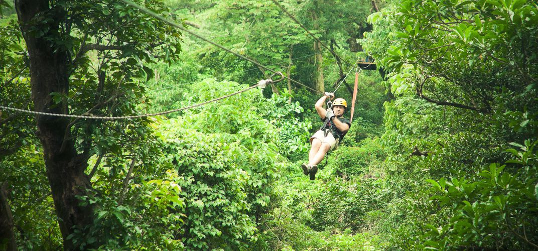 Zip-line adventure in Costa Rica