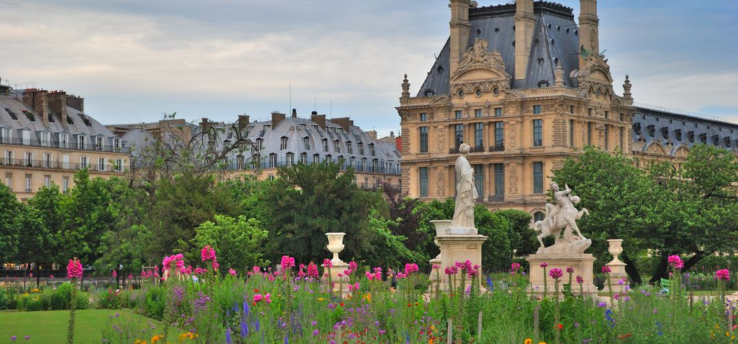 The Tuileries Gardens, near the Louvre Museum