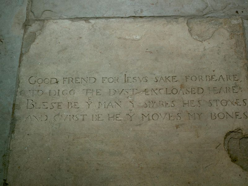 Shakespeare's Tombstone