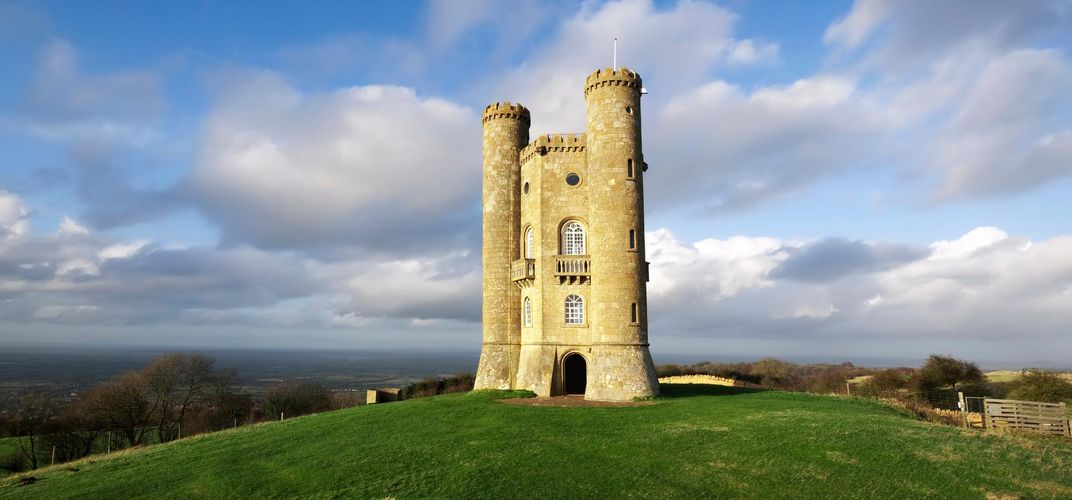 Architectural folly of Broadway Tower