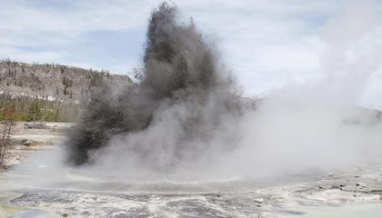 2324567fb507 Hydrothermal activity at Yellowstone National Park. Is this the kind of  setting where life arose? (USGS)