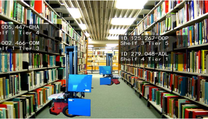 This Robot Librarian Locates Haphazardly Placed Books