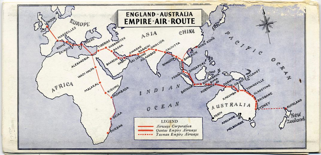 The impossible flight history air space magazine by 1935 qantas was transporting passengers and mail all the way from sydney to singapore courtesy sfo museum publicscrutiny Images