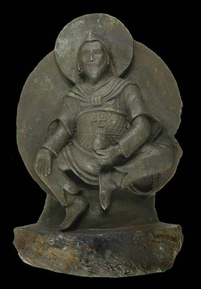 This ancient Buddhist statue is thought to have been carved from meteorite roughly 1000 years ago.