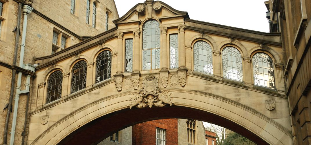 Bridge of Sighs landmark, Oxford University