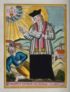 St. Valentine blessing an epileptic