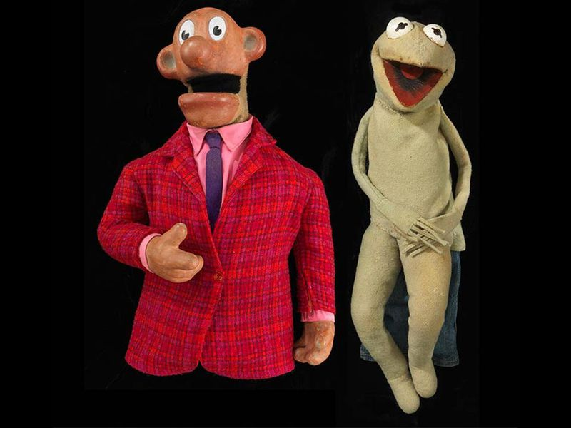Sam and Kermit puppets
