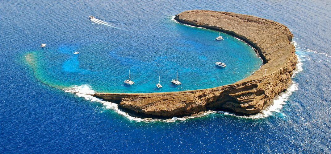 Half-submerged crater of Molokini