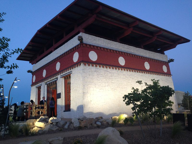 Lhakhang at dusk