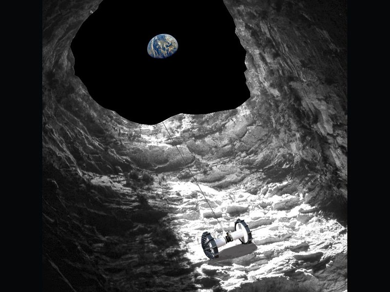 NASA Considers a Rover Mission to Go Cave Diving on the Moon