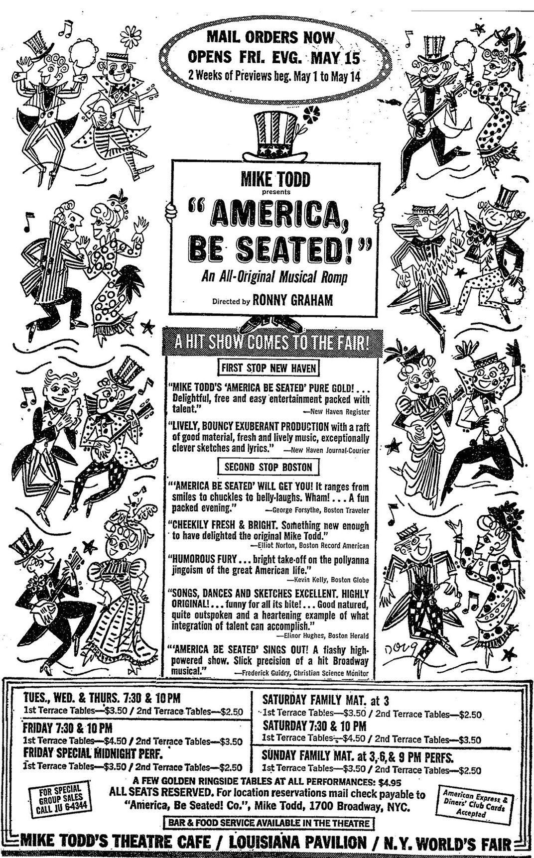 America Be Seated Ad
