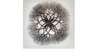 Ruth Asawa, Untitled (S.557, Wall-Mounted Tied Wire, Closed Center Twelve-Petaled Form Based on Nature), bronze wire, 38 x 38 x 12 in. Crystal Bridges Museum of American Art, Bentonville, Arkansas, 2011.39.