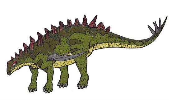 A restoration of Gigantspinosaurus.