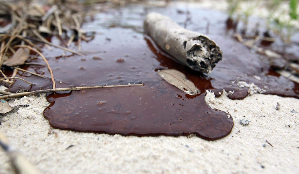 Oil washed ashore from BP's Deepwater Horizon oil spill in 2010.