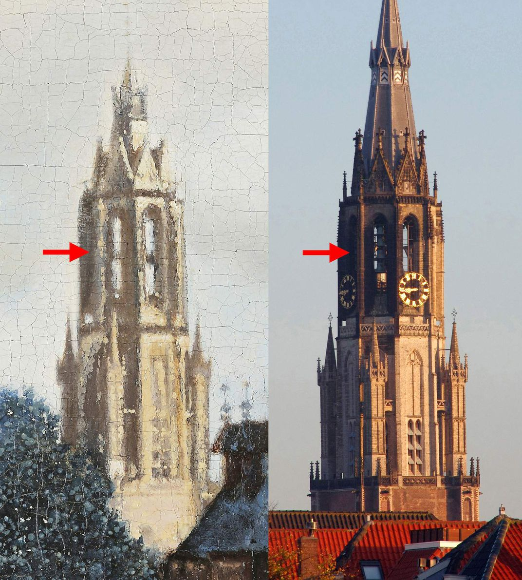 Composite view of Nieuwe Kerk  tower