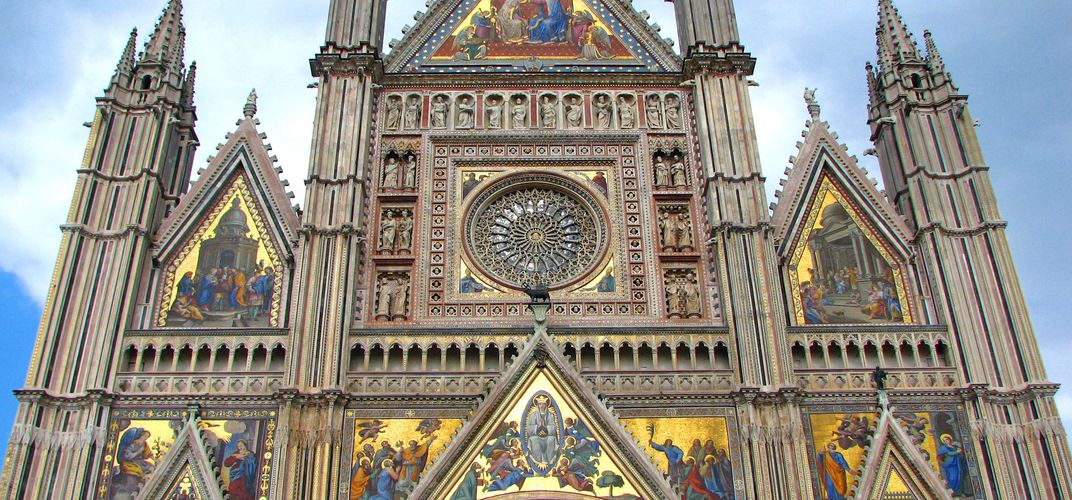 The dramatic facade of Orvieto's cathedral