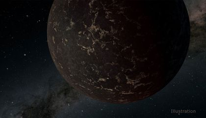 Astronomers Spy the Surface of an Airless, Mercury-Like World