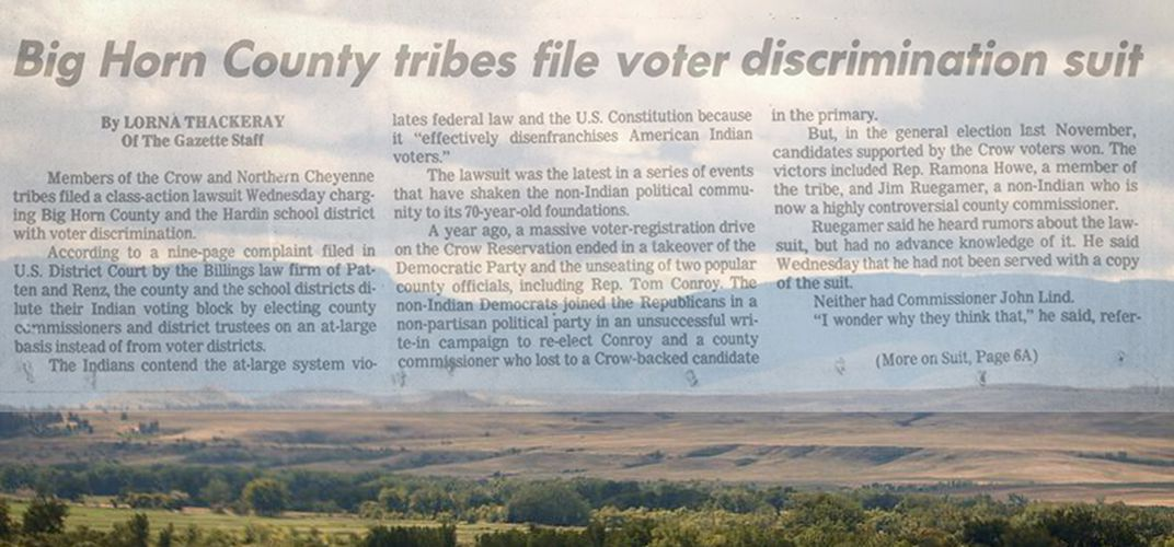 Caption: To Make Native Votes Count, Janine Windy Boy Sued