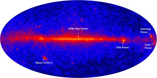 The Fermi Gamma-ray Space Telescope opens for business.