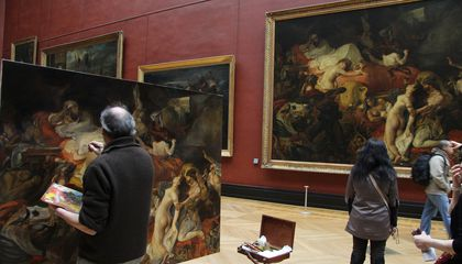 What's With the People With Easels in Art Museums?