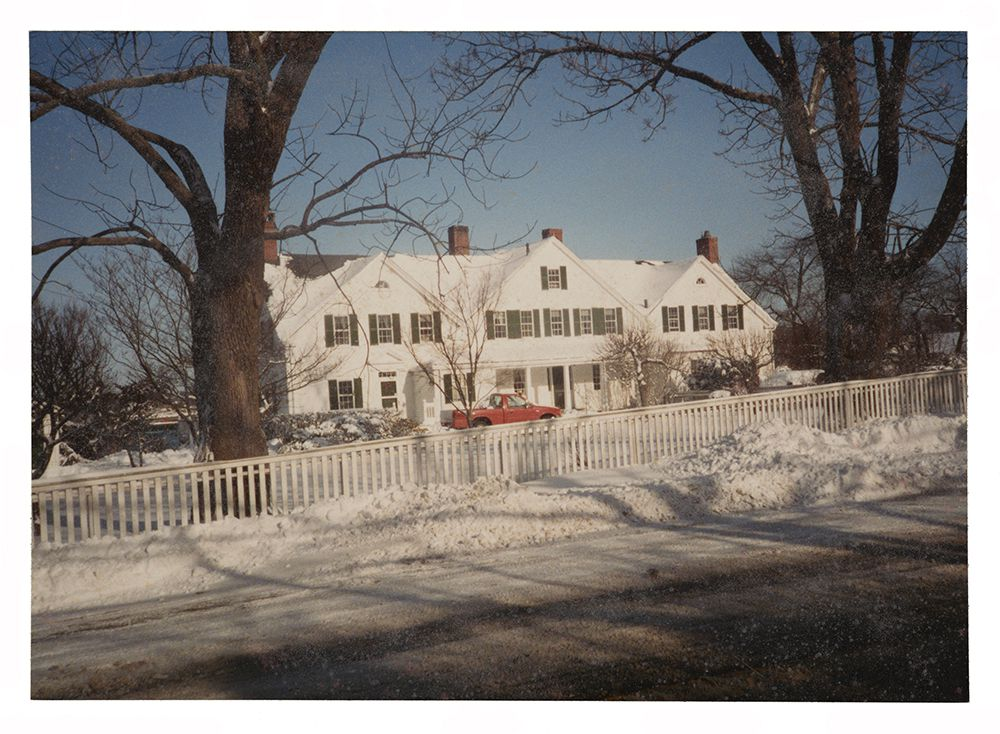 Circa 1985 photograph of the Tarbell home in New Hampshire