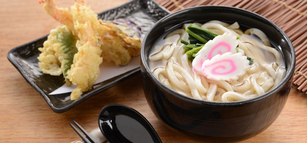 Traditional Udon noodle dish