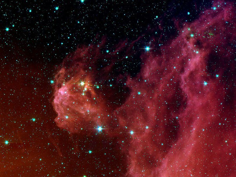 Star formation in the constellation Orion as photographed in infrared by NASA's Spitzer Space Telescope