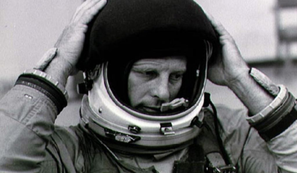 Lousma training for the shuttle in 1978.