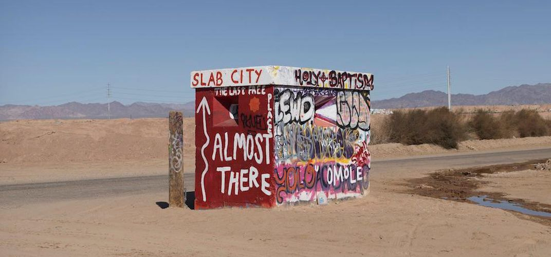 Caption: Inside Slab City, a Squatters' Paradise in Cali
