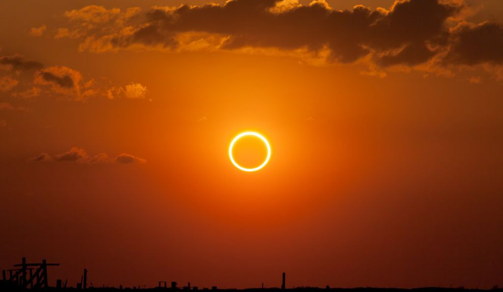 Air & Space photo contest finalist of the 2012 annular solar eclipse as seen from New Mexico.