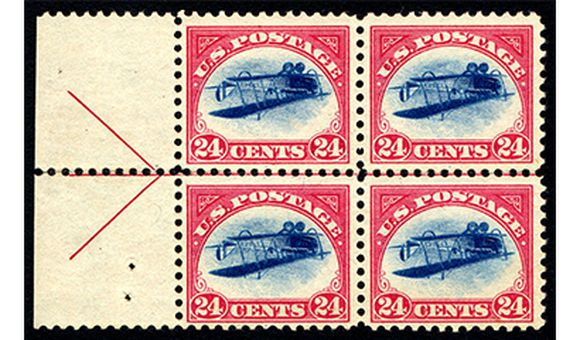Inverted Jenny Block of Four, 1918